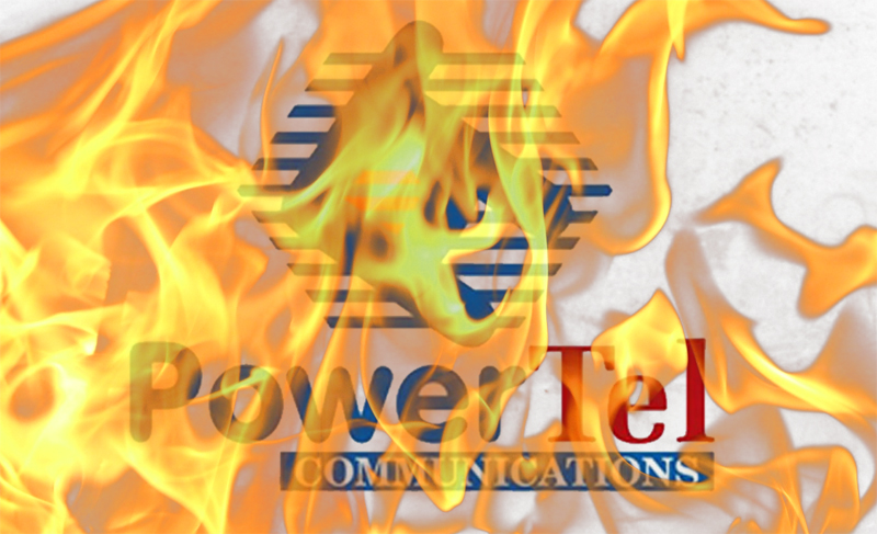powertel-on-fire